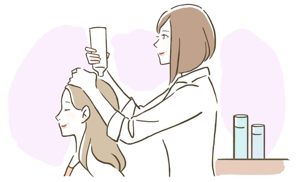 育毛剤(育毛と発毛促進の育毛剤を使用)